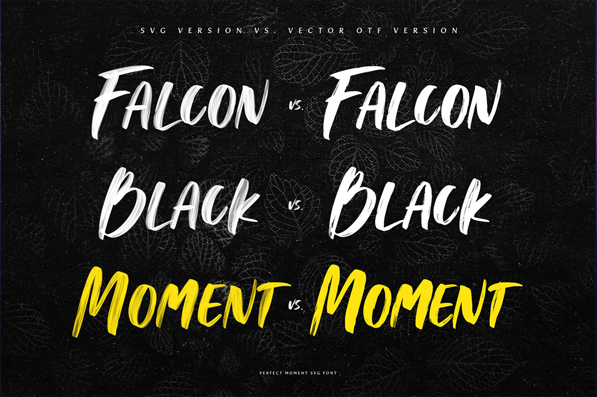 Perfect Moment SVG Font