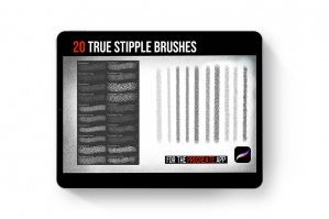 Procreate Tattoo True Stipple Brush Set