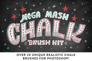 Realistic Photoshop Chalk Brushes!