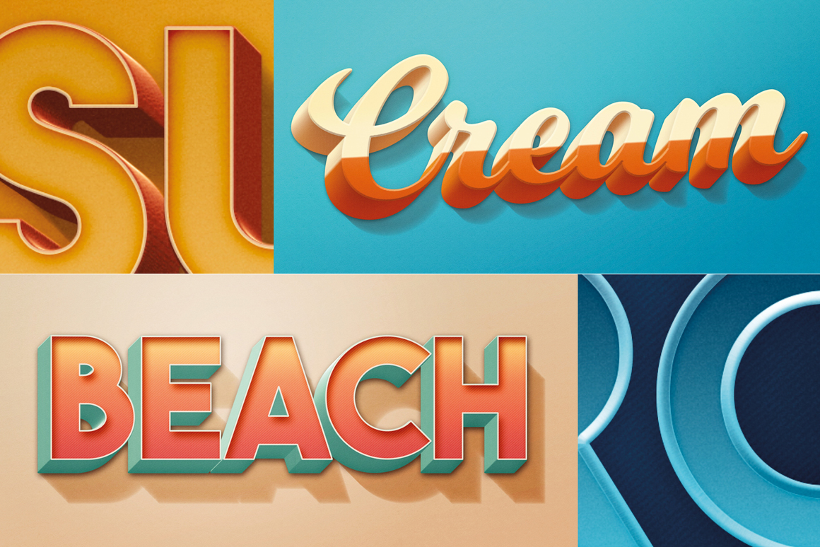 Retro Photoshop Text-Effects Pack 3