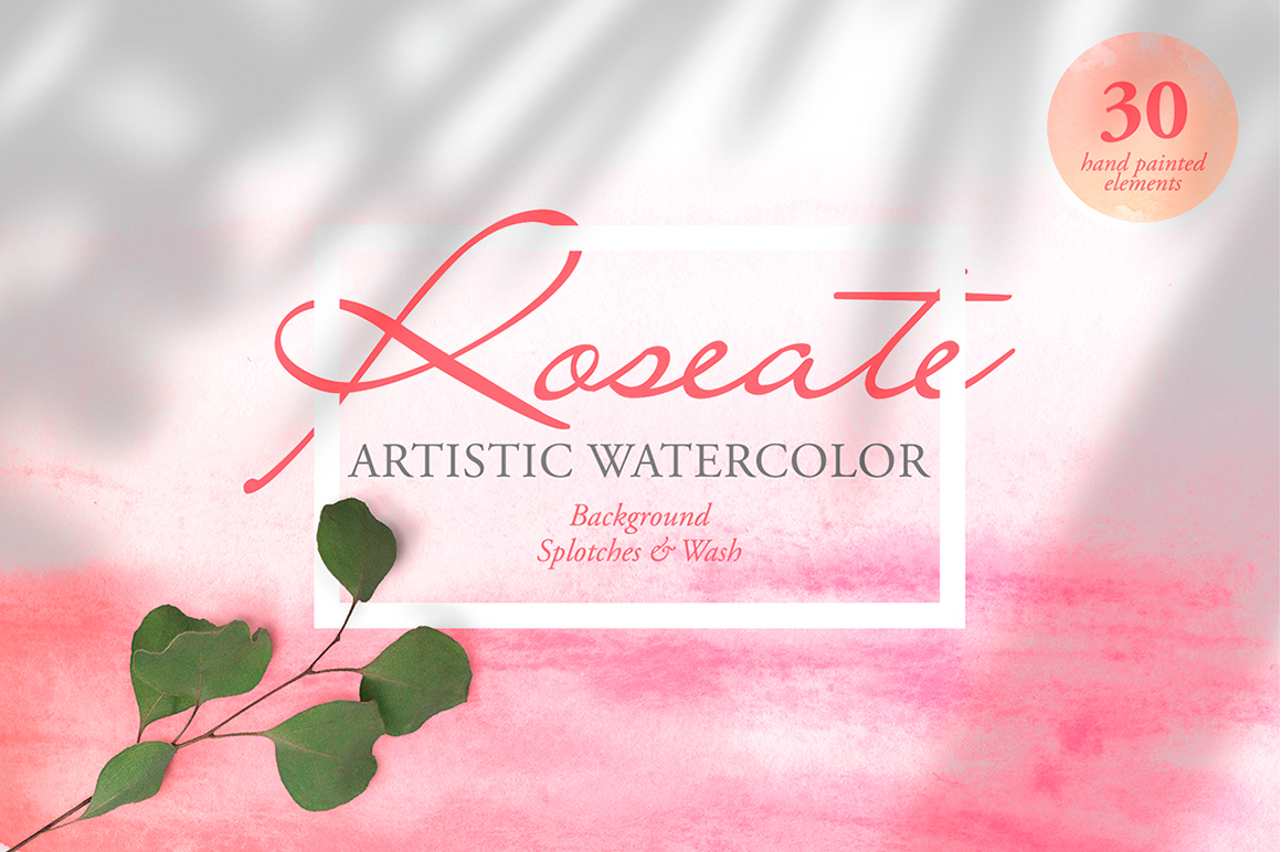 Roseate Artistic Watercolor