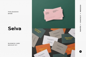 Selva: Business Card Mockup Kit