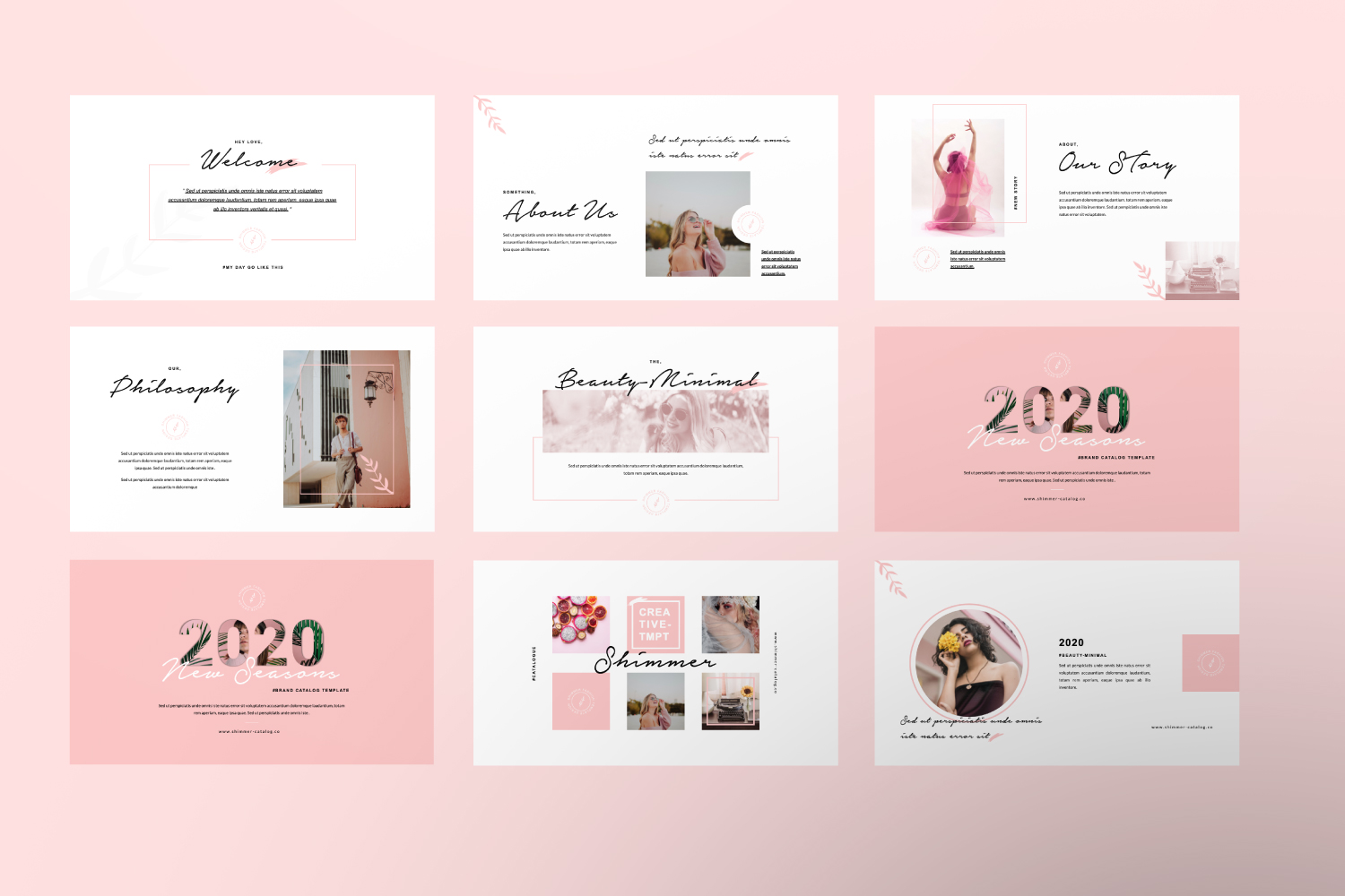 Shimmer Brand Clean Powerpoint