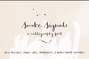 Smoke Signals Script Font and Extras