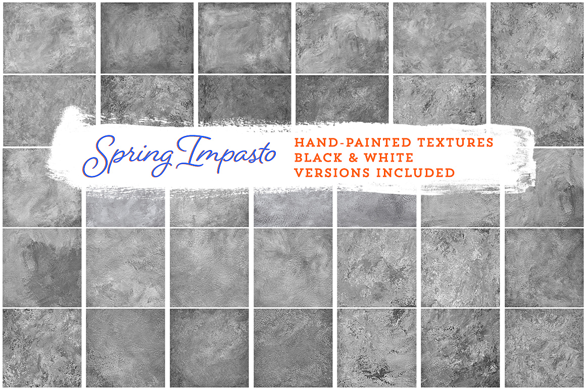 Spring Impasto Painted Texture Collection