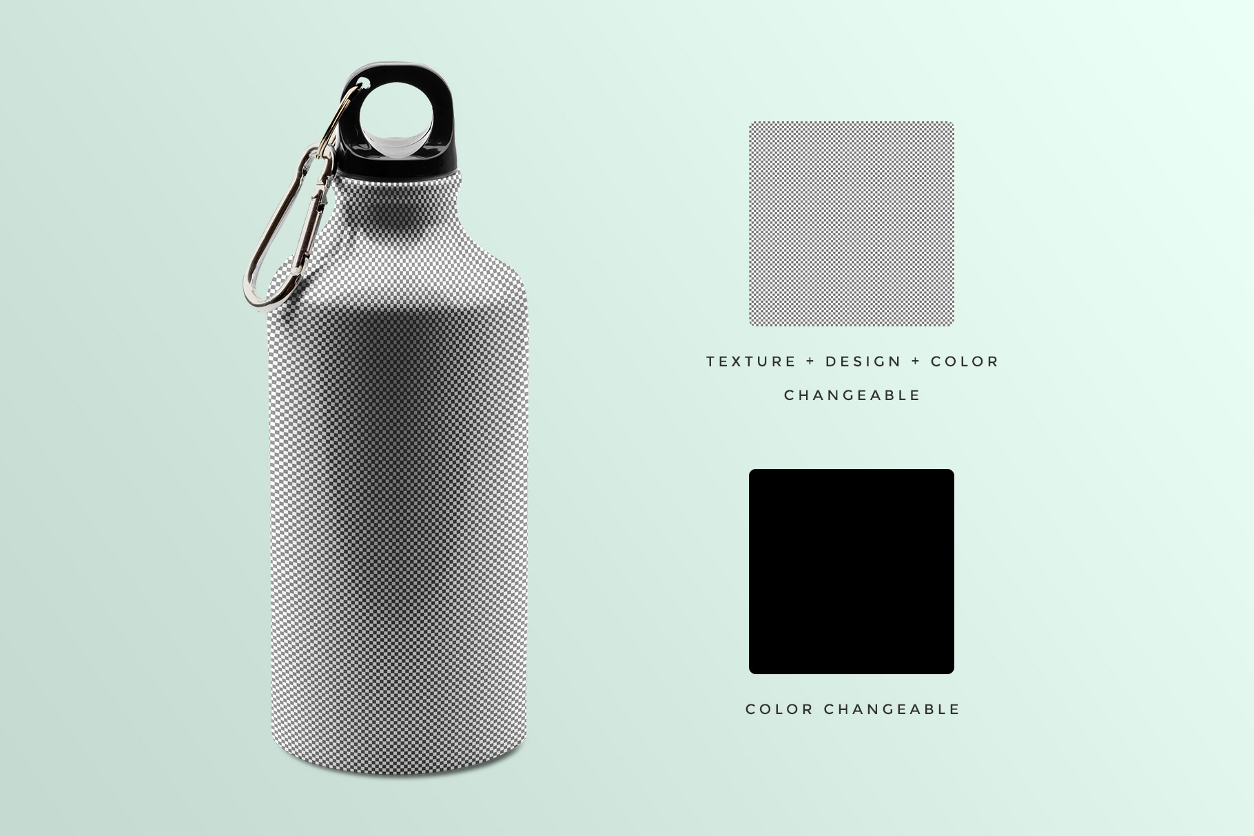 Stainless Sports Water Bottle Mockup