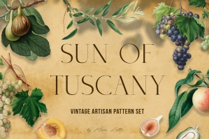 Sun of Tuscany - Vintage Pattern Set