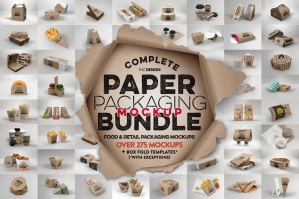 The Complete Paper Packaging Mockup Bundle