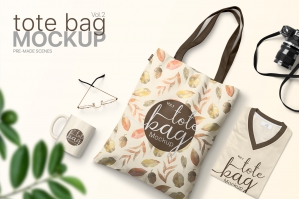 Tote Bag Mockups Vol.2 - Pre-Made Scenes