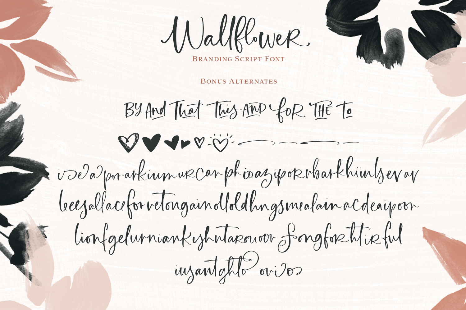 Wallflower Branding Type Collection