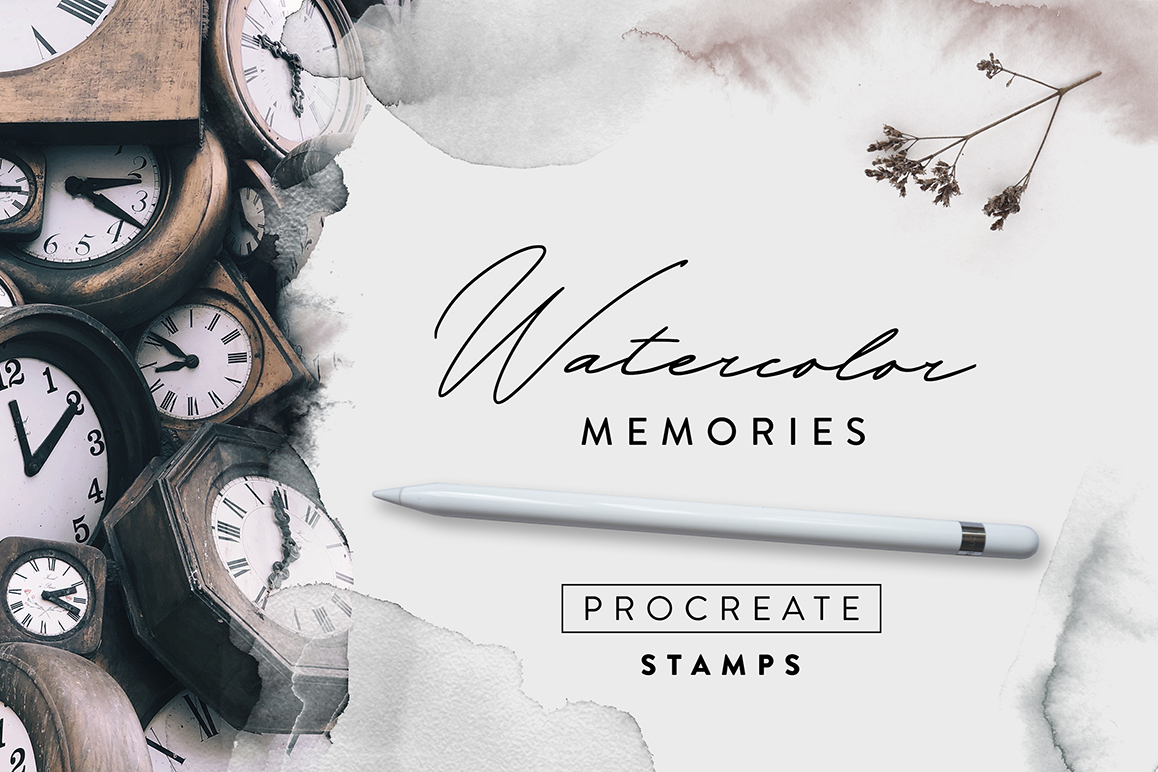Watercolor Memories - Procreate Stamps