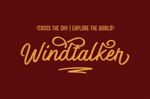 Windtalker Rough Font Duo