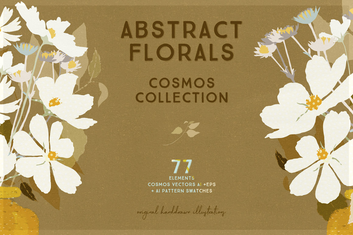 Abstract Florals Cosmos Collection Illustrations