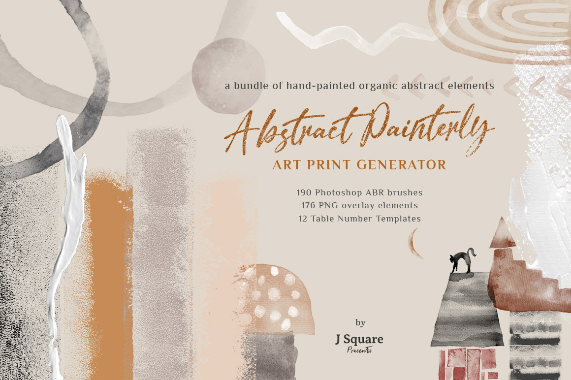 Abstract Painterly Art Generator - PSD Brushes