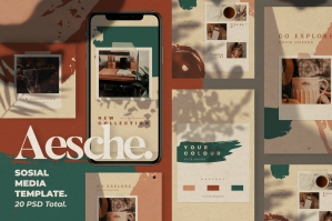 Aesche Instagram Template