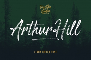 Arthur Hill Brush Font