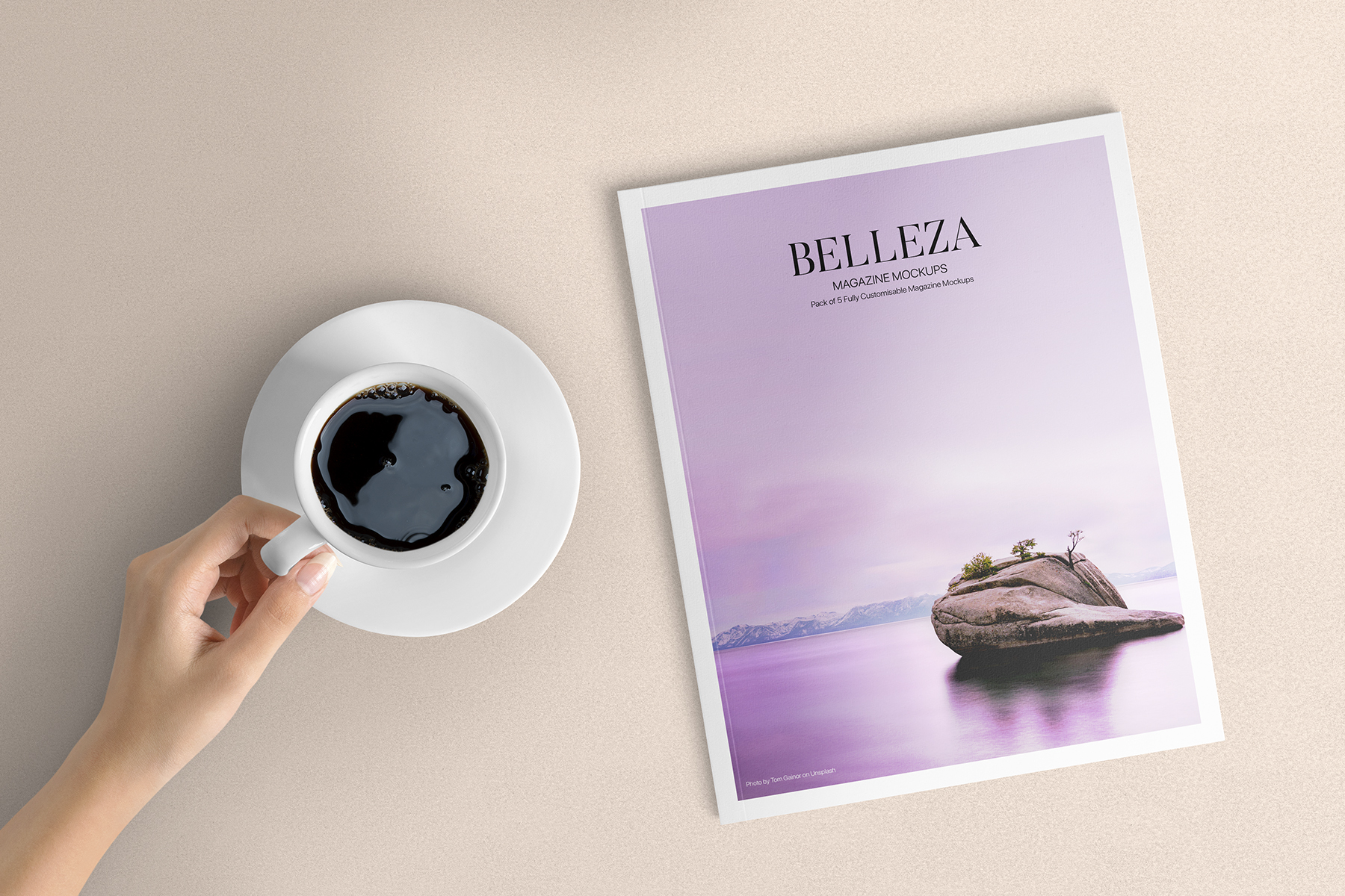 Belleza - A4 Magazine Mockups Pack