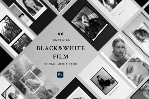 Black & White Film Frames Templates