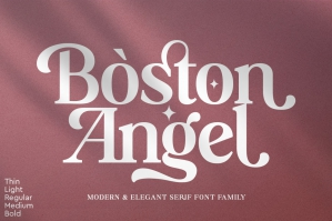 Boston Angel - Serif Font Family