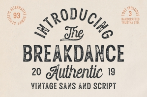 Breakdance Vintage Font Duo