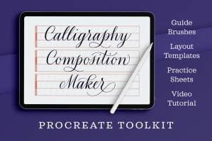 Calligraphy Composition Maker for Procreate