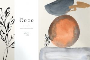 Coco - Abstract Watercolor Art