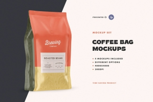 Coffee Bag Mockup Set