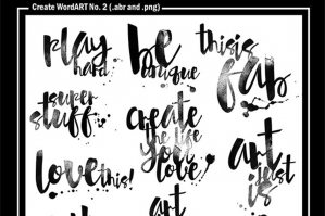 Create WordART No. 2