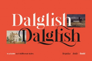 Dalglish - Luxury Serif Typeface