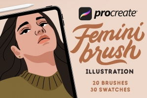 FeminiBrush - Procreate Illustration Brushes