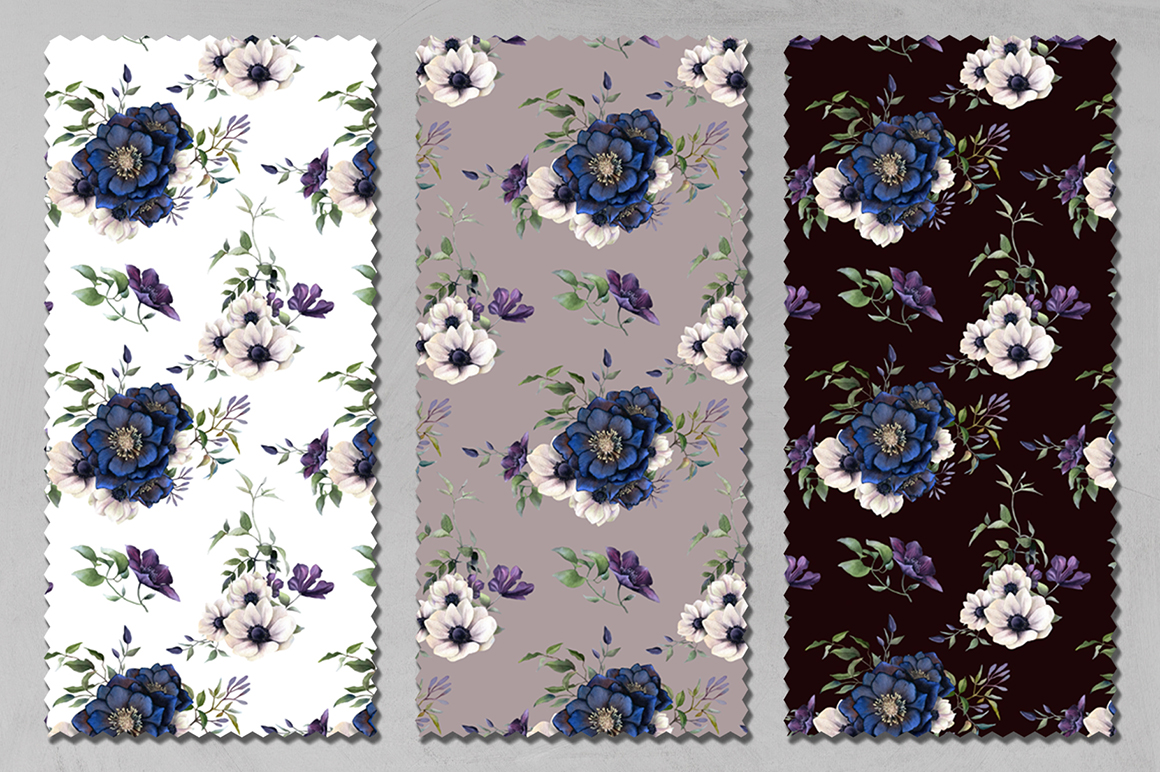 Full Bloom Watercolor Patterns Collection
