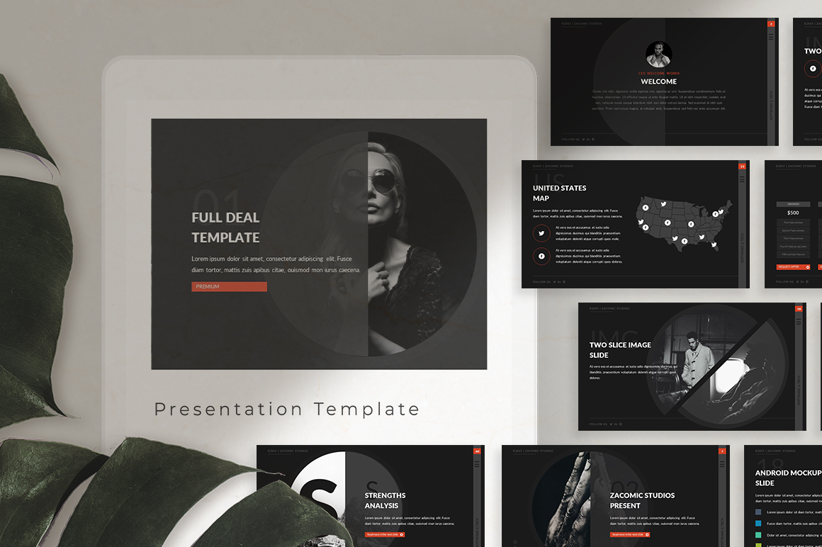 Full Deal Powerpoint Template