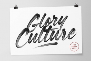 Glory Culture SVG Font + Extras