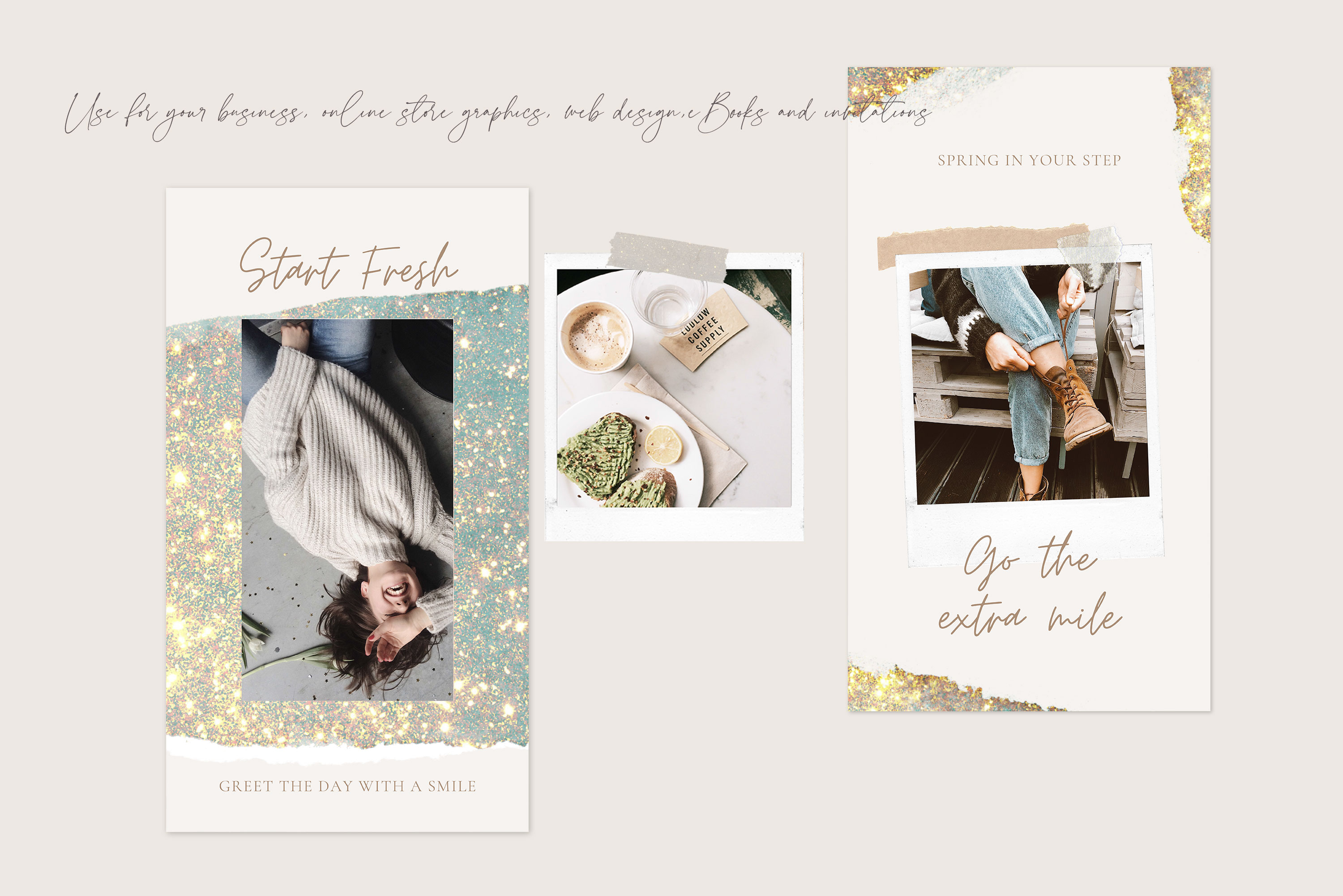 Gold Watercolor Shapes PNG Overlays