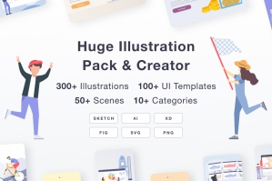 Huge Illustration Pack & Creator