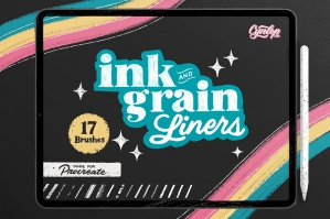 Ink & Grain Liners Brush Pack for Procreate