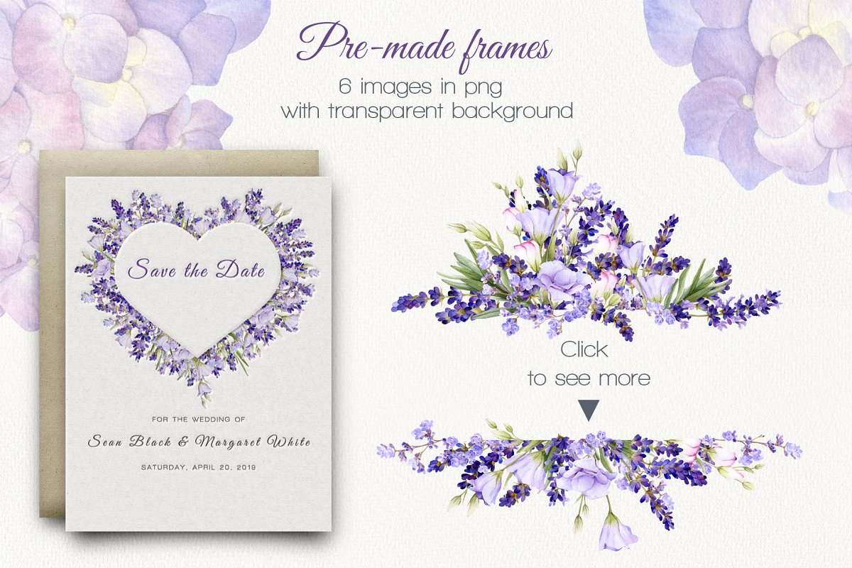 Lilac Provence Watercolor Collection
