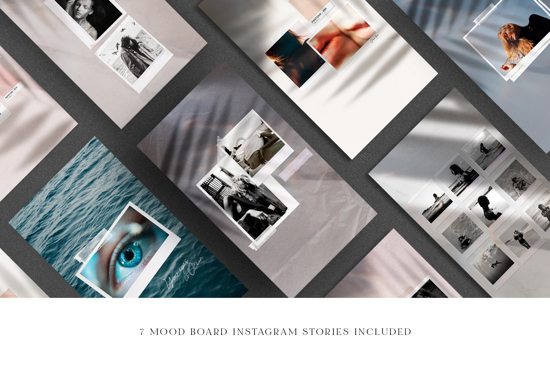 Mood Board Mockup Scene Creator + Bonus Stories