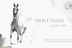 Mustango Watercolor Wild Animals Collection
