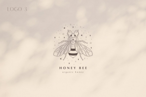 Premade Honey Bee Brand Logo Design for Blogs