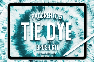 Procreate 5: Tie Dye Brush Kit
