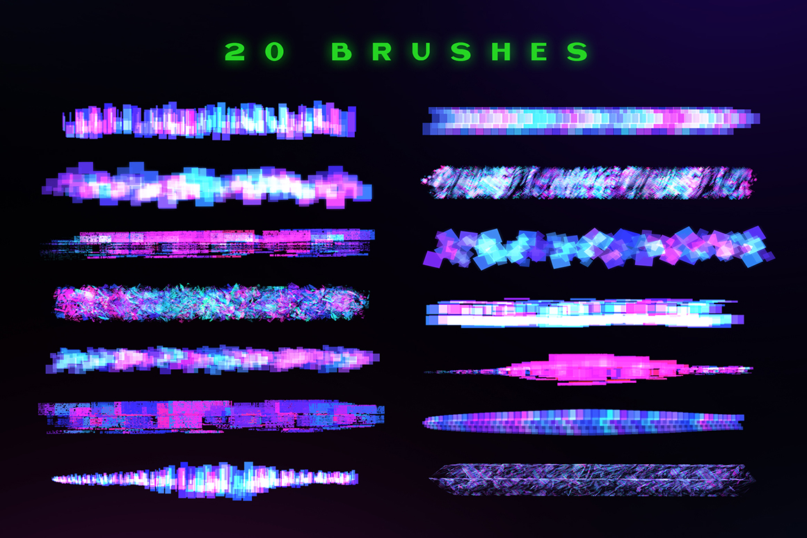 Procreate Glitch Lettering Brushes