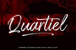 Quartiel Brush Font