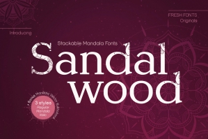 Sandalwood Stackable Mandala Fonts