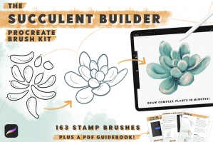 Succulent Builder Procreate Brush Kit