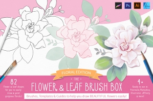 The Flower & Leaf Brush Box