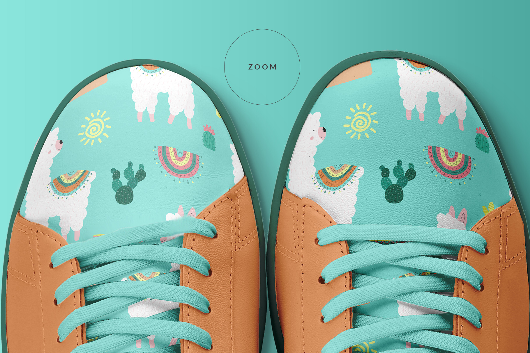 Top View Trendy Sneakers Mockup