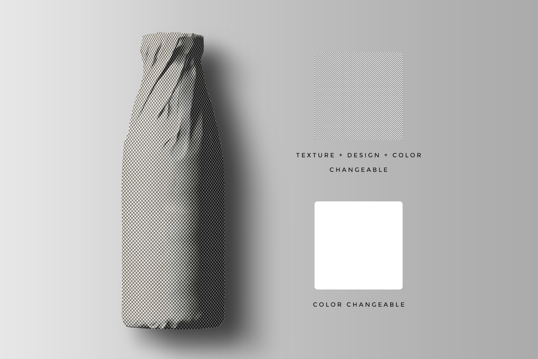 Top View Wrapped Bottle Mockup