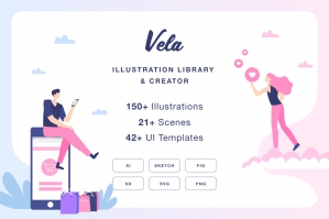 Vela Illustration Library & Creator