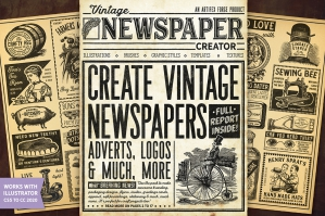 Vintage Newspaper Creator - Illustrator